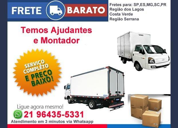 Mudanças comerciais e residenciais / caminhões de 3.5mts e