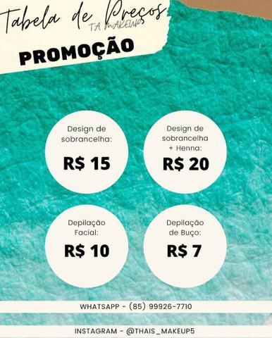Salão de design de sobrancelhas (promoção)