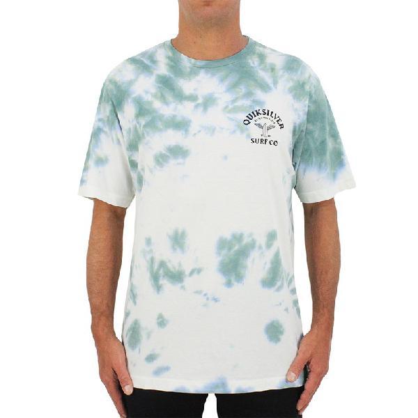 Camiseta quiksilver enjoy the glide tie dye light green -