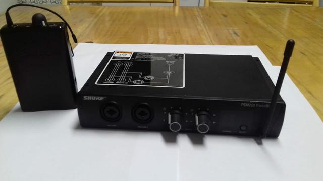 Monitor de palco sem fio shure psm 200