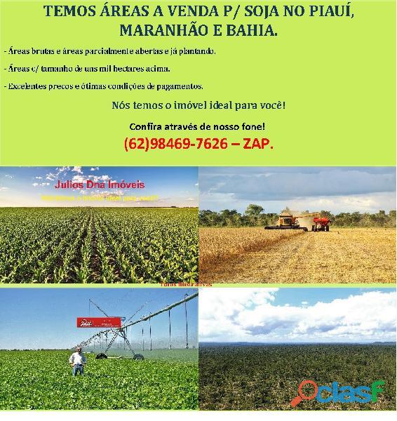 Fazendas áreas a venda p/ soja no piauí, maranhão e bahia.