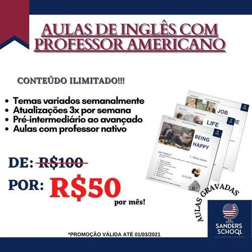 Aulas de inglês, online e presencial
