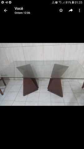 Mesa com tampo pra 6/8 lugares