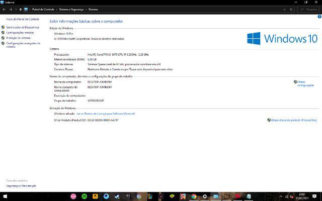 Pc gamer completo! monitor teclado mouse adaptador wifi e 2