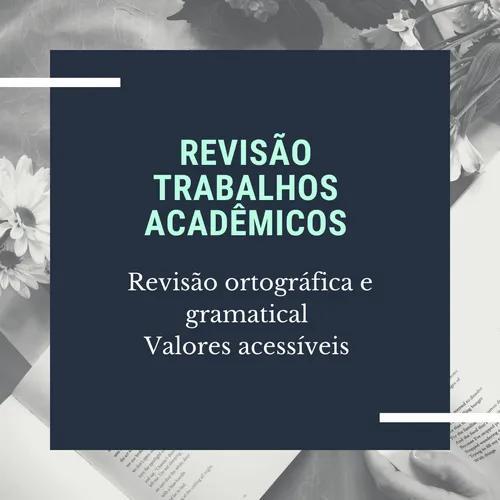 Revisão tcc, artigo científico e trabalhos acadêmicos