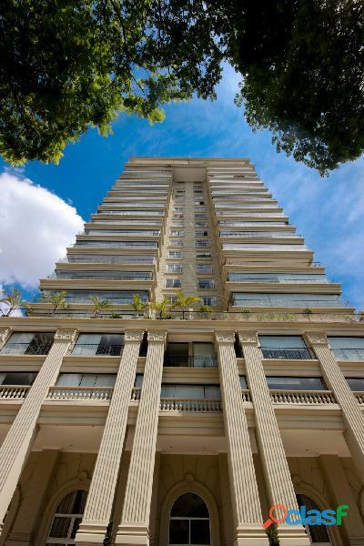 Apartamento de alto padrão mobiliado com 280 m² no edifício paris itaim