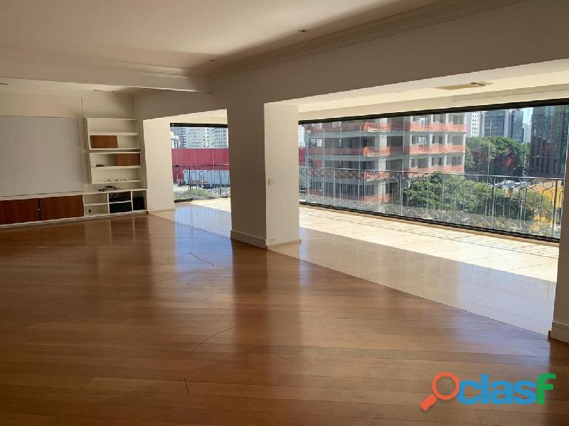 Apartamento de alto padrão mobiliado com 280 m² no edifício paris itaim 2