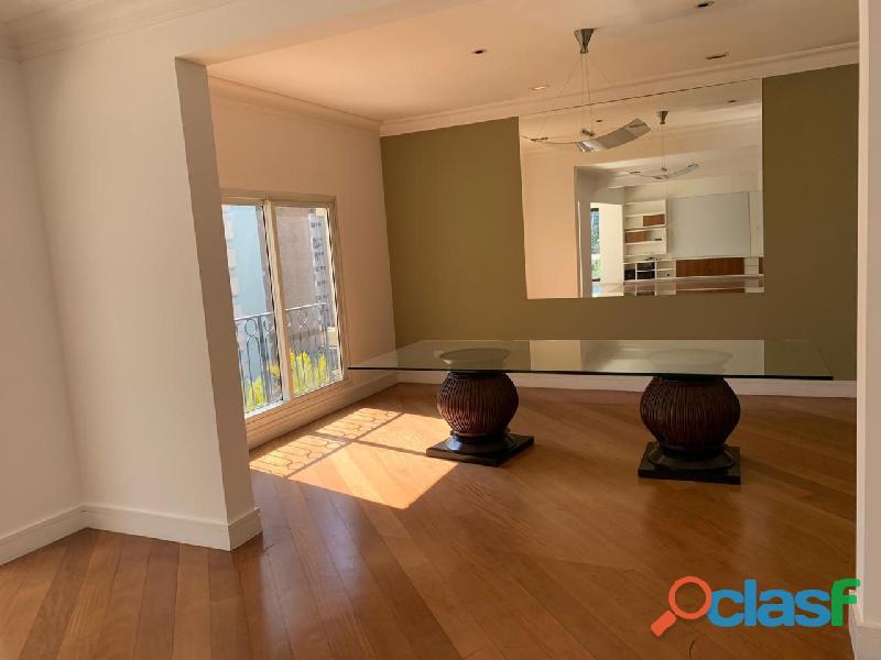 Apartamento de alto padrão mobiliado com 280 m² no edifício paris itaim 4