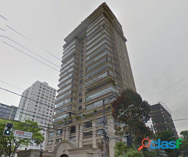 Apartamento de alto padrão mobiliado com 280 m² no edifício paris itaim 18
