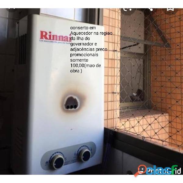 Manutenção em aquecedor e fogão