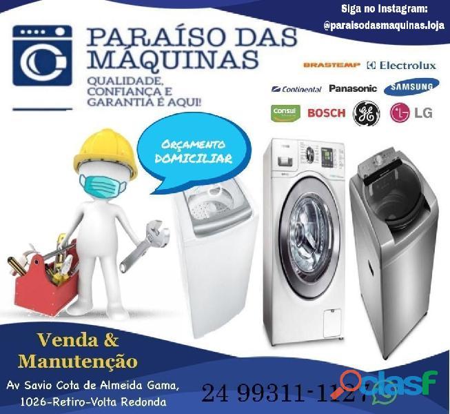 Manutenção em lava e seca, secadoras e máquinas de lavar