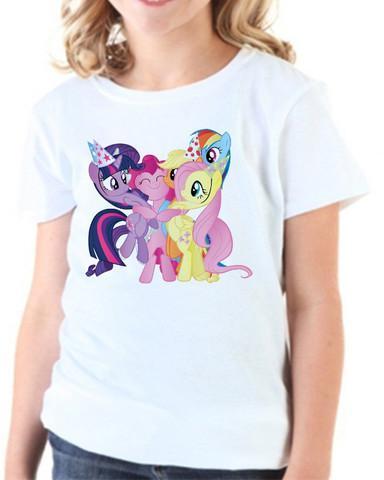 Camiseta infantil my little pony branca