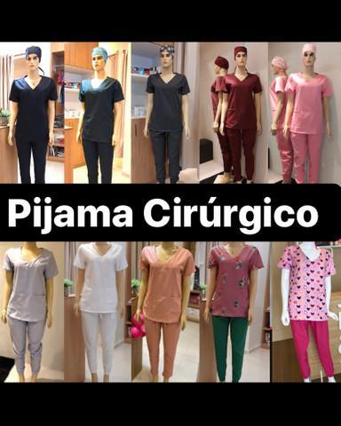 Pijama cirúrgico e jalecos