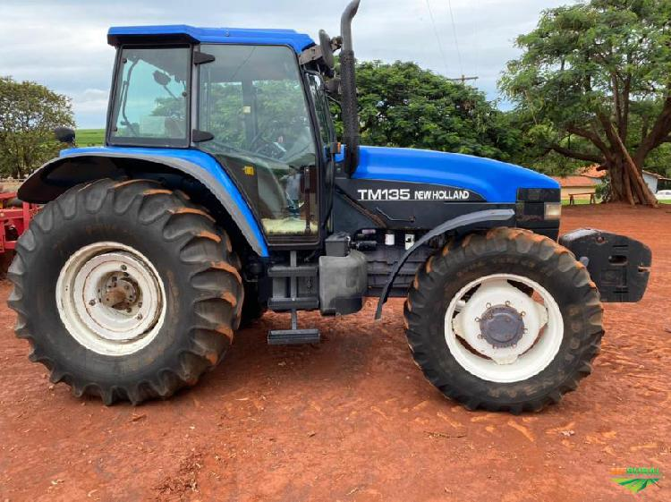 Trator new holland tm 135 4x4 ano 01
