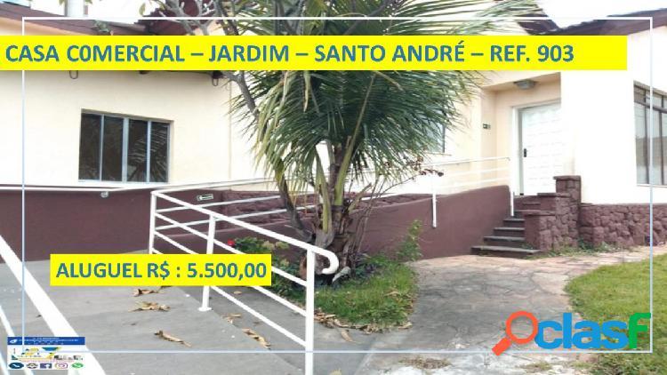 Casa - aluguel - santo andré - sp - jardim)