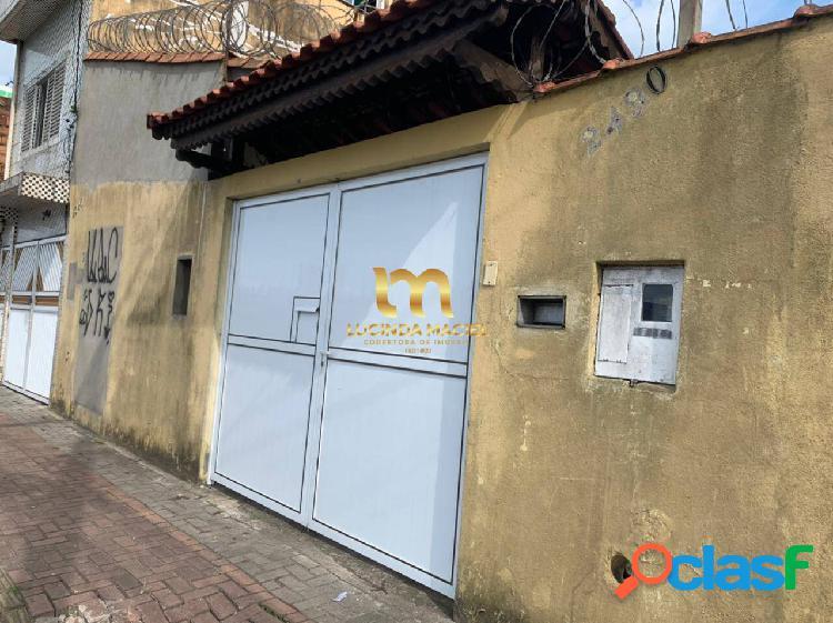Casa isolada térrea, 02 dormitórios, amplo quintal - tude bastos -pg