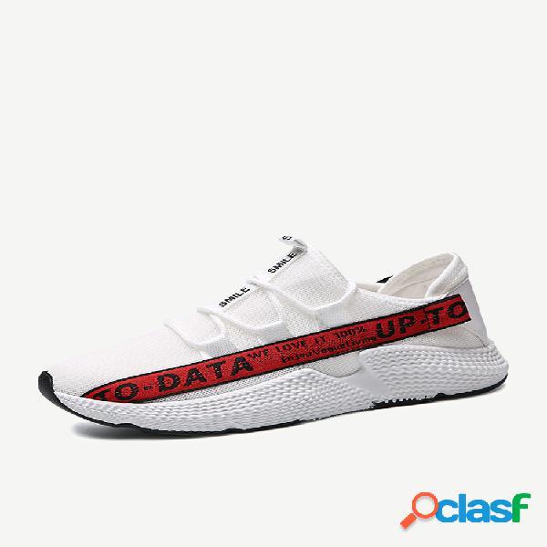 Anos de malha moda maré sapatos casuais calçados esportivos rua selvagem dos homens sapatos casuais dos homens sapatos