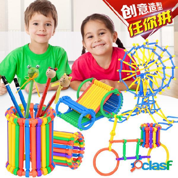 Barris de 320 varas mágicas magic wand spelling early educação quebra-cabeças do jardim de infância das crianças blocos de construção de brinquedo manual