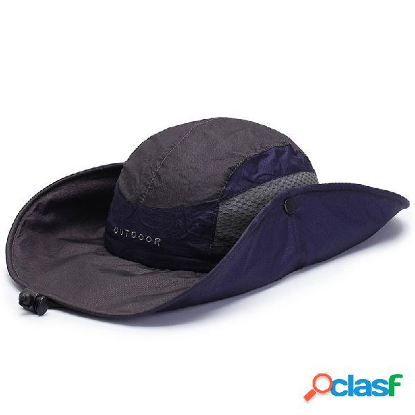 Homens mulher de secagem rápida fisherman chapéu dobrável visor chapéu