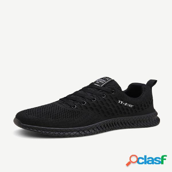 Homens respirável soft calçados esportivos casuais