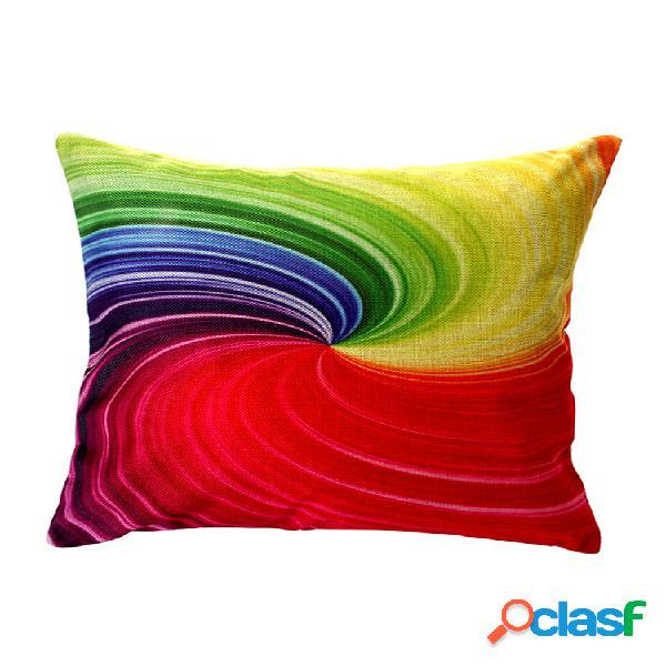 Capa de almofada de algodão geométrica cor maravilhosa decoração doméstica