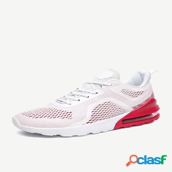 Homens tamanho grande respirável esportes sapatos