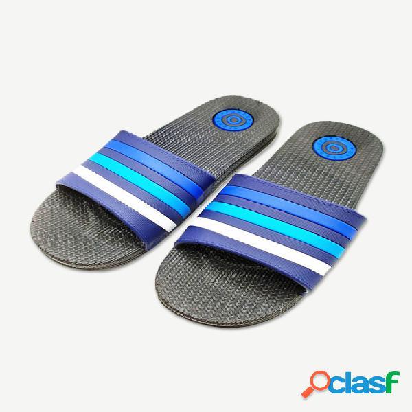 Sapatilhas e sandálias masculinas da temporada novas chinelos de pvc resistentes ao desgaste da moda selvagem com listras masculinas