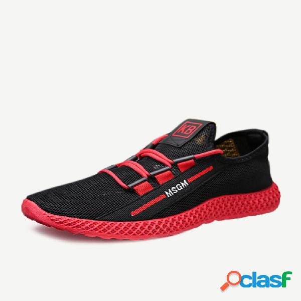 Temporada de moda de nova homens sapatos de malha respirável sapatos casuais resistente ao desgaste sapatos de viagem selvagem calçados esportivos