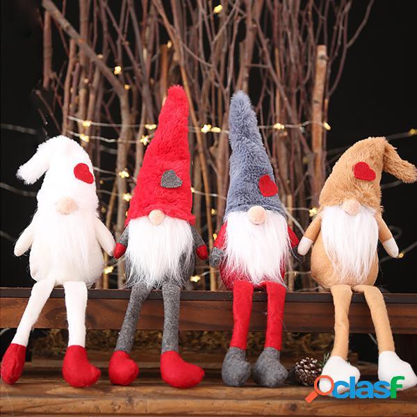 Tomte long chapéu sem rosto de pelúcia boneca brinquedo xmas natal santa decor home party