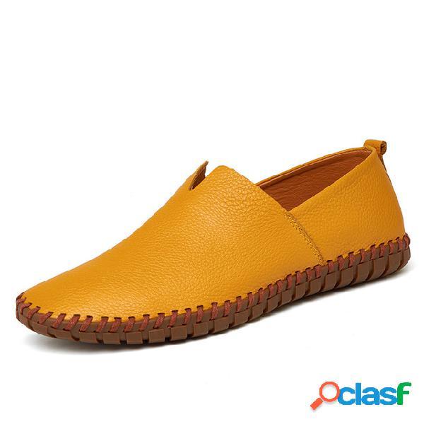 Homens tamanho grande one pé motorista sapatos sapatos de couro