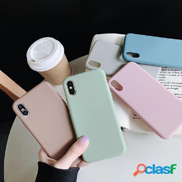 Material grosso simples do telefone do iphone da cor sólida de soft tpu