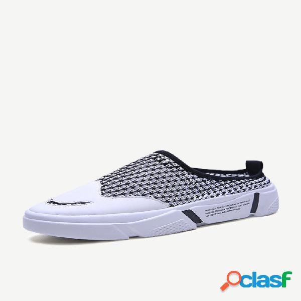 Temporada de abertura novo sorriso de viagem dos homens sandálias de esportes respirável malha oca sapatos masculinos sapatos casuais ao ar livre