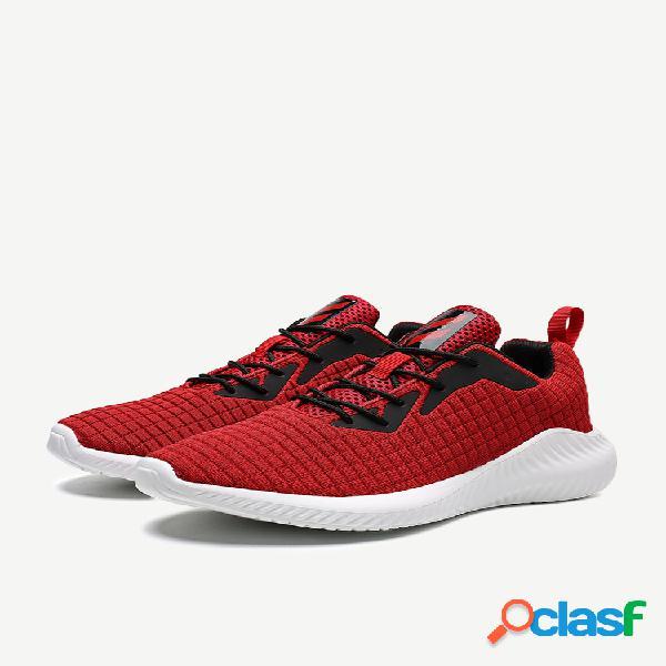 Temporada sapatos novos homens voando tecidos esportes calçados masculinos mesh pano leve sports running shoes