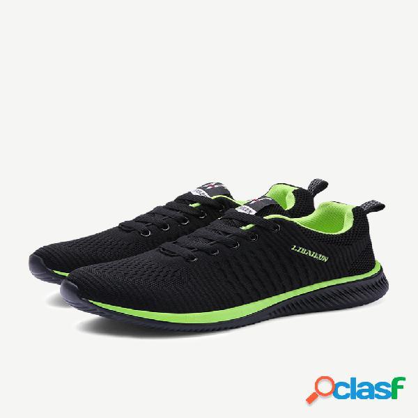 Voando tecido 9088 sapatos masculinos temporada grande tamanho mesh md ultra leve sports running shoes sapatos de fitness respirável ocasional