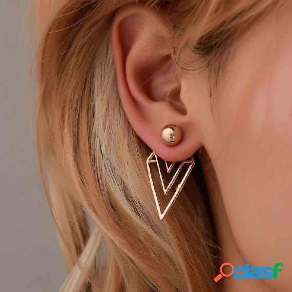 Boêmio amor grande círculo borla pingente brincos definir geométrica flor do alfabeto orelha stud punk jóias