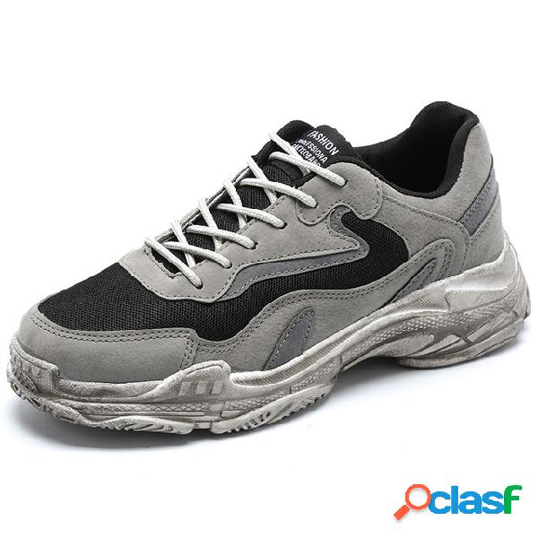 Homens retro respirável esportes sapatos casuais