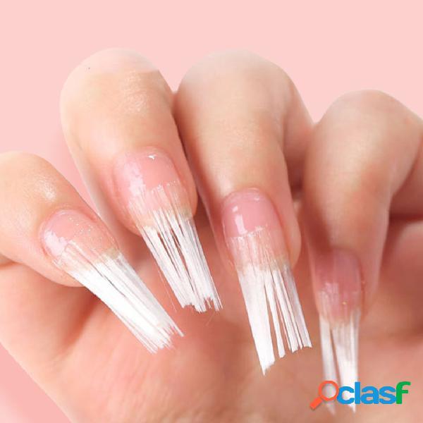 Unhas ferramentas de manicure em fibra de vidro de extensão rápida sem bandeja de fibra de extensão