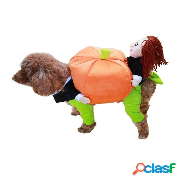 Animal de estimação engraçado cachorro ternos de movimento de abóbora para animais de estimação roupas para festas de animais de estimação roupas de inverno