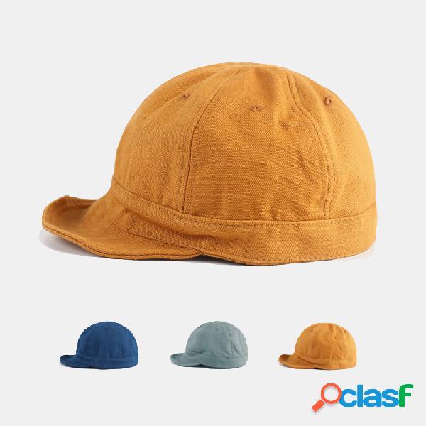 Unisex cor sólida chapéu boné curto rua casual selvagem respirável boné de beisebol