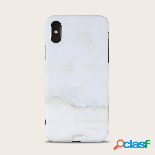 Shell bonito unisex do telefone móvel da textura da cor sólida do mármore da mulher para o iphone