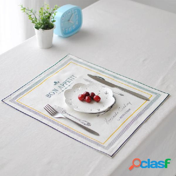 30x32cm soft algodão, linho, talheres, tapete, mesa, corredor, isolamento térmico, almofada, toalha, toalha de mesa, capa, mesa