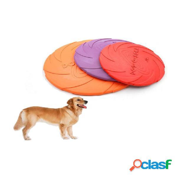 Animal de estimação de 18 cm cachorro disco voador flutuante de borracha produtos para animais de estimação cachorro treinamento de mordida soft
