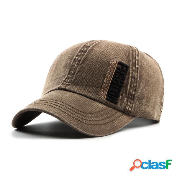 Chapéu vintage lavada de algodão gorra de basebol ajustável boné de golf para homens mulheres