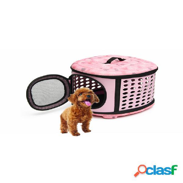 Pequeno animal de estimação cachorro gato filhote de cachorro gatinho transportador portátil gaiola transportadora 3 opções de cores