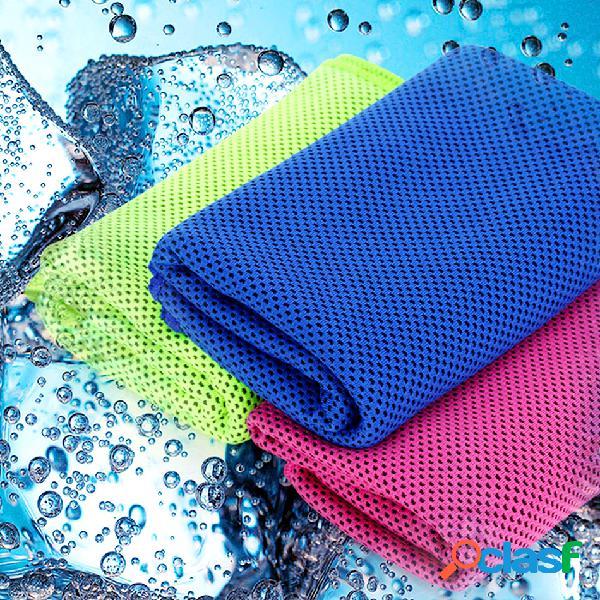 Santo resfriamento esportes toalha suor verão absorvente toalha toalhinha de secagem rápida para academia em execução yoga