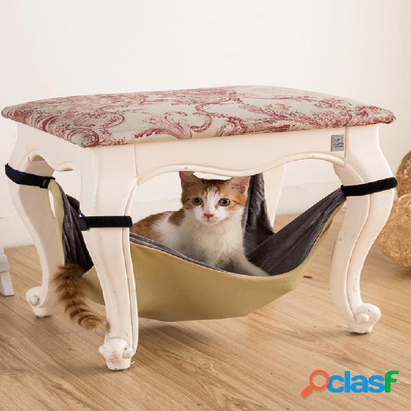 Cama de rede para animais de estimação cama suspensa casa esteira de cachorro gaiola de pequeno animal rato gato cachorro soft cama