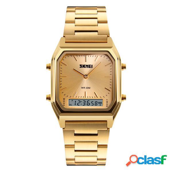 Skmei 1220 relógio clássico luminoso profissional digital de quartzo