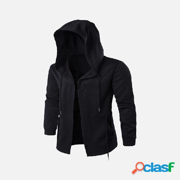 Casual jaqueta preto tamanho grande para homens