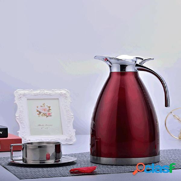 Aço inoxidável vácuo isolado pote frasco duplo garrafa de café europeu panela fria chaleira