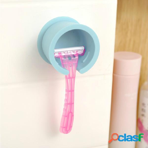 Suporte de barbear de parede suporte de raspador ferramenta de lâmina prateleira azul branco